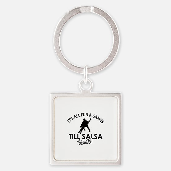 Salsa gear and merchandise Square Keychain