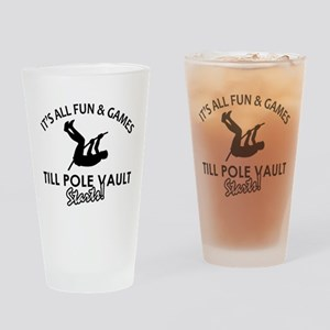 Pole Vault gear and merchandise Drinking Glass