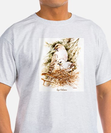 """Birds and Young """"Gyr Falcons"""" Peter Bere Design T-"""