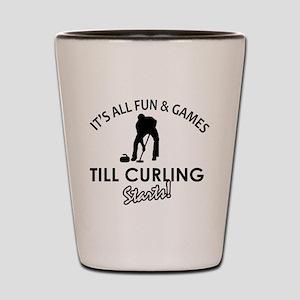 Curling gear and merchandise Shot Glass