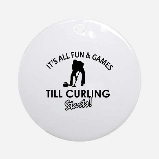 Curling gear and merchandise Ornament (Round)