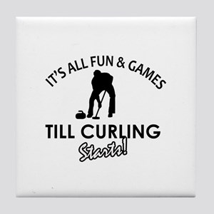Curling gear and merchandise Tile Coaster