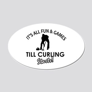 Curling gear and merchandise 20x12 Oval Wall Decal