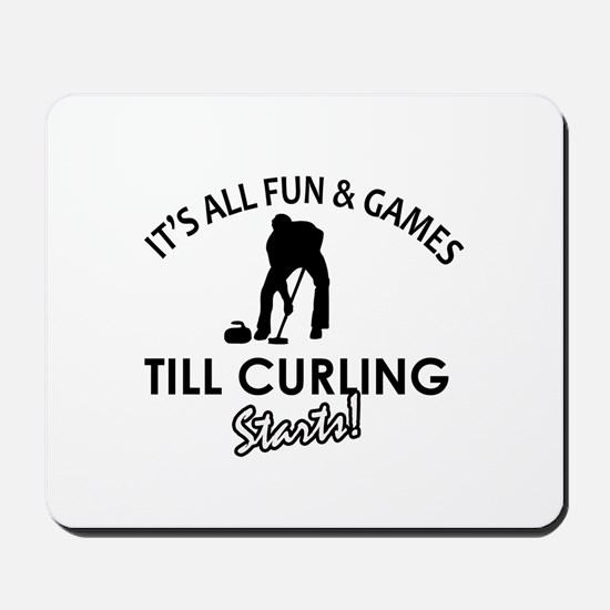 Curling gear and merchandise Mousepad