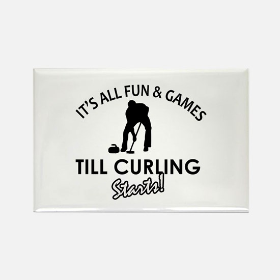 Curling gear and merchandise Rectangle Magnet