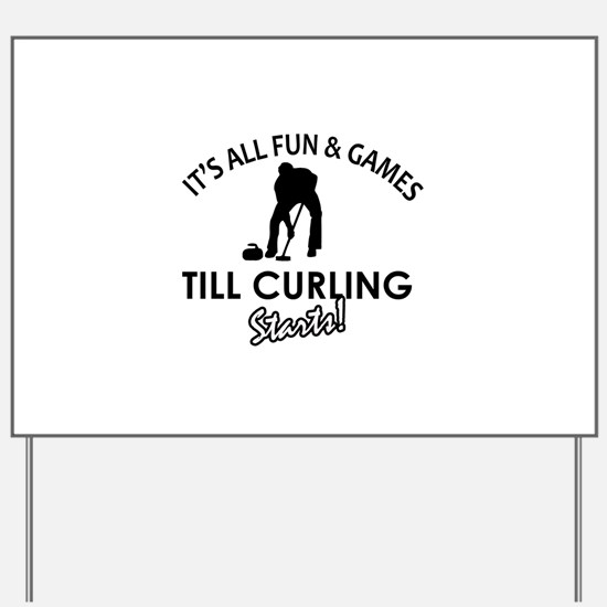 Curling gear and merchandise Yard Sign