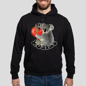 I Love Koalas Hoodie (dark)