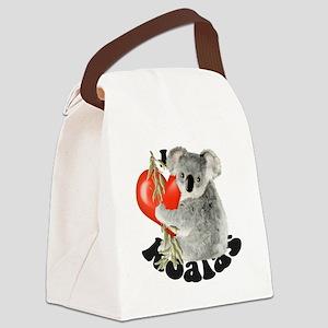 I Love Koalas Canvas Lunch Bag