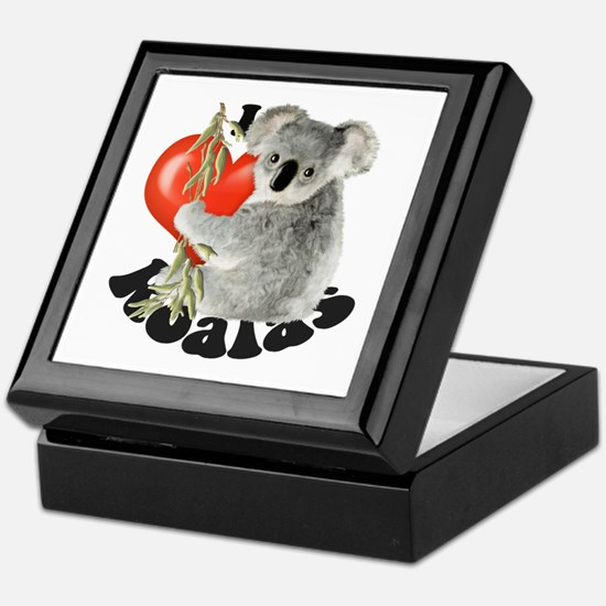 I Love Koalas Keepsake Box