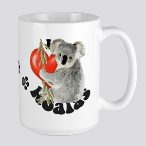 I Love Koalas Large Mug