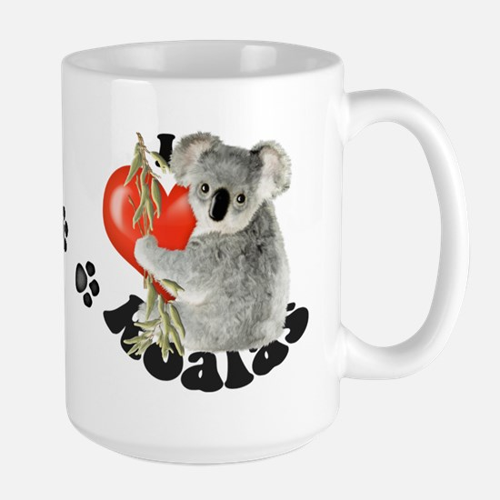 I Love Koalas Large Mug