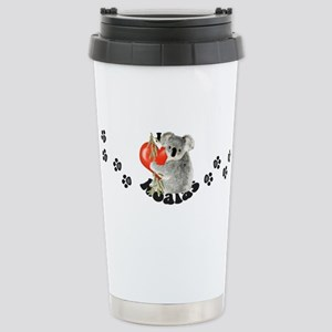 I Love Koalas Stainless Steel Travel Mug