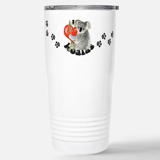 I Love Koalas Stainless Steel Travel Mug