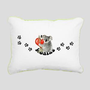 I Love Koalas Rectangular Canvas Pillow