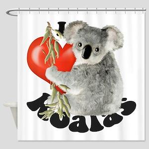 I Love Koalas Shower Curtain