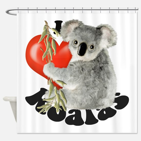 I Love Koalas Shower Curtain