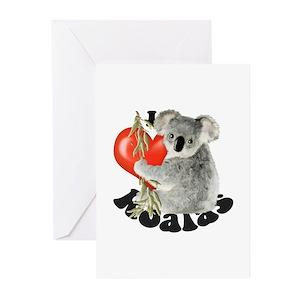Koala bear greeting cards cafepress m4hsunfo