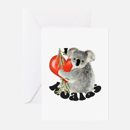 I Love Koalas Greeting Cards (Pk of 20)