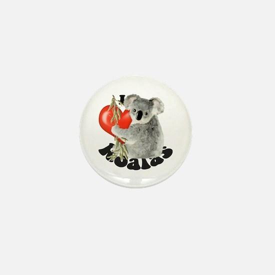 I Love Koalas Mini Button