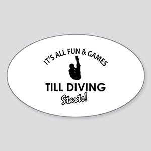Diving gear and merchandise Sticker (Oval)
