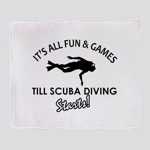 Scuba Diving gear and merchandise Throw Blanket