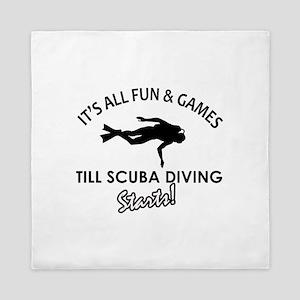 Scuba Diving gear and merchandise Queen Duvet