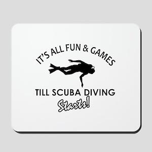Scuba Diving gear and merchandise Mousepad