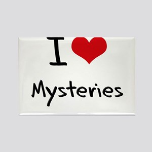 I Love Mysteries Rectangle Magnet