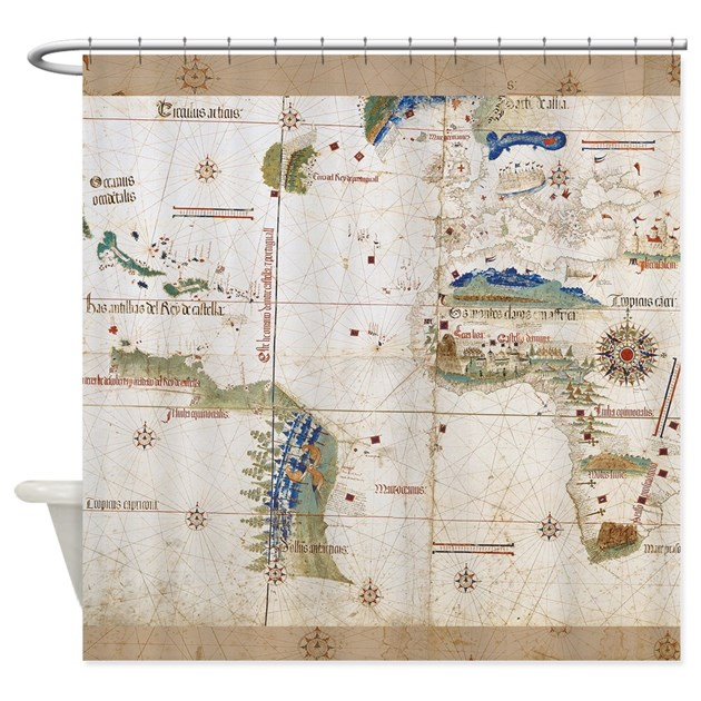 map shower curtain vintage planisphere world map shower curtain by doodlefly 13310