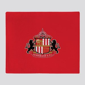 Vintage Sunderland AFC Crest Full Bl Throw Blanket