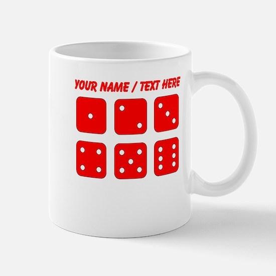 Custom Red Dice Set Mug