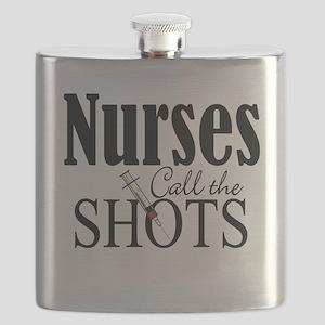 Nurses Call The Shots Flask
