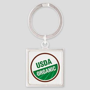 USDA Organic Square Keychain