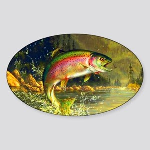 Rainbow Trout Jumping Sticker