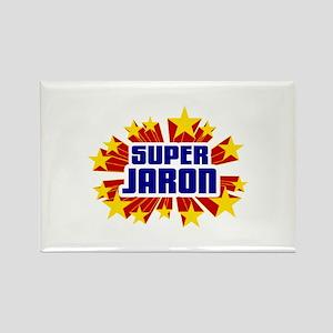 Jaron the Super Hero Rectangle Magnet