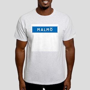 Road Marker Malmö - Sweden Ash Grey T-Shirt