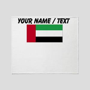 Custom United Arab Emirates Flag Throw Blanket