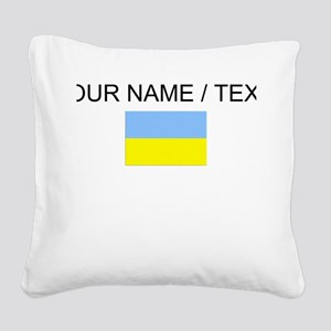 Custom Ukraine Flag Square Canvas Pillow