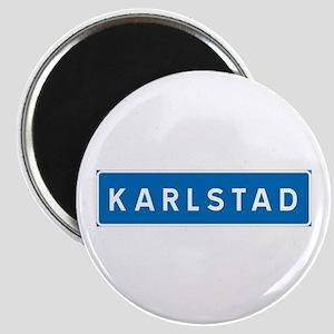 Road Marker Karlstad - Sweden Magnet