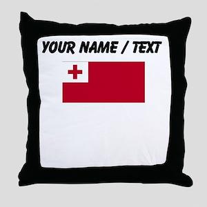 Custom Tonga Flag Throw Pillow