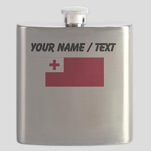 Custom Tonga Flag Flask