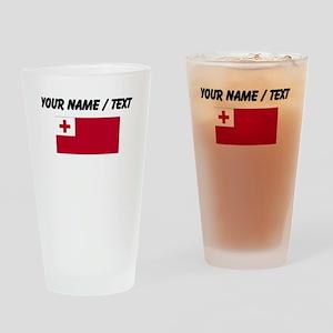 Custom Tonga Flag Drinking Glass