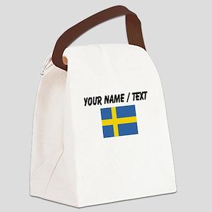 Custom Sweden Flag Canvas Lunch Bag