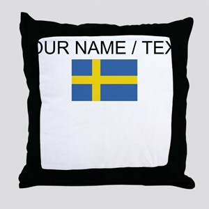 Custom Sweden Flag Throw Pillow