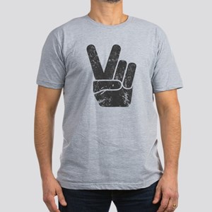Vintage Peace Sign Men's Fitted T-Shirt (dark)