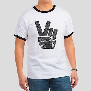 Vintage Peace Sign Ringer T