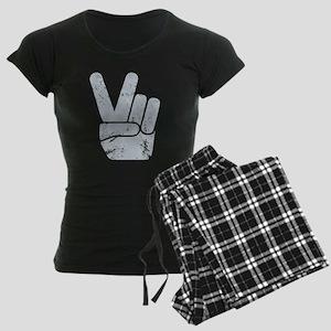 Vintage Peace Sign Women's Dark Pajamas