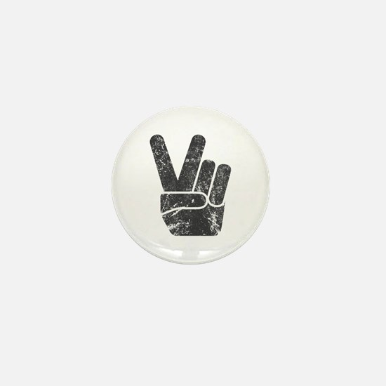 Vintage Peace Sign Mini Button