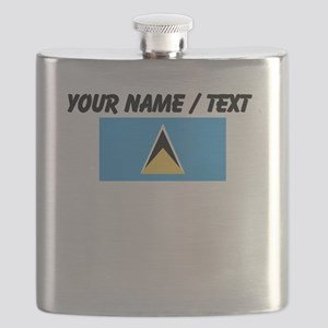 Custom Saint Lucia Flag Flask
