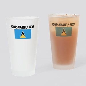 Custom Saint Lucia Flag Drinking Glass